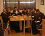 Der Ausschuss der Feuerwehr Oberdrum mit Ehrengästen