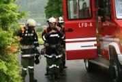 Atemschutzgeräteträger bei einer Übung beim Breimberger in Oberdrum