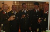 Der neue gewählte und der alte Vorstand der Feuerwehr Oberdrum