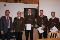 Bgm. Martin Huber überreichte die Urkunden zur Beförderung
