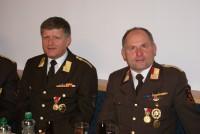 Der Bezirksfeuerwehrvorstand: BSF Edi Gander, BI Brunner Franz