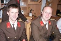 Der stellvertretende Kommandant BI Philip Gstinig und Kdt. OBI Hansjörg Stottre