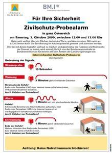 Zivilschutz Alarmsignale